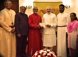 What makes PM to endorse an embezzler evangelist but maintain the distance from accused Hindu Gurus?